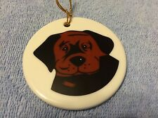KATHERINE WASHBURN CERAMICS: DOG CHRISTMAS ORNAMENT #6
