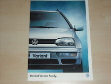 62216) VW Golf III Variant Family Prospekt 10/1997