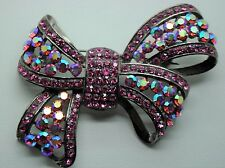 Vintage Ribbon Style Fashion Brooches Dkab/Lt Purple  high-quality Bouquet