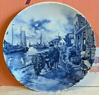 Porcelain-Plate-Ter Steege Bv-Delft-Blauw-Hand Decorated in Holland-Vintage-1984