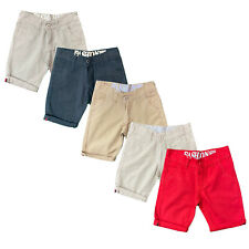 Boys Kids Shorts Chino Plain Knee Length Cotton Pocket Summer Fashion Casual