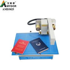 Amd3025 Digital Gold Foil Printer For Bookcover Leather Paper Pvc Hardcover