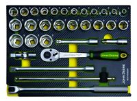 "Genuine John Deere 31 Piece 1/2"" 6-Point Socket Set MCKT9A4502M1 Tools Garage"