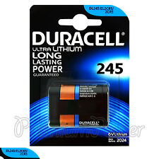 1 x Duracell Ultra Lithium DL245 2CR5 6V battery DL245 ELCR5 Photo EXP:2024