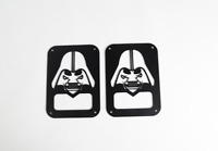 DARTHVADER Rear Tail light Cover Guard For 2007-2017 Jeep Wrangler JK Black Pair