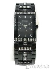 New Elgin Steel Black Crystals Men Dress Watch 25mm x 37mm FG1504
