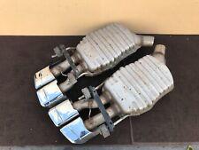 2011-2013 ✔MERCEDES W221 S65 S63 AMG SPORT REAR MUFFLER EXHAUST PIPE SET OEM