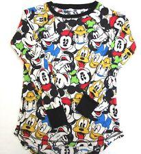 Disney Womens Pajama PJ Sleepwear Shirt Size XS Mickey Minnie Donald Daisy Goofy