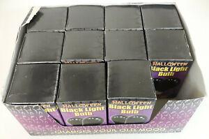 Lot of 11 Black Light Bulbs 75 Watts Halloween Party Standard Socket 75w