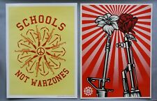 M16 VS AK47 | MARCH FOR OUR LIVES DOUBLE SIDED PRINT | OBEY | SHEPARD FAIREY