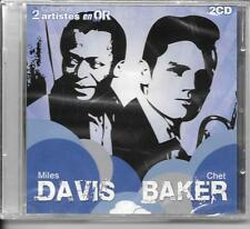 2 CD COMPIL 34 TITRES--MILES DAVIS & CHET BAKER--2 ARTISTES EN OR--NEUF