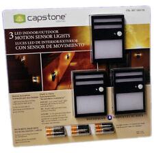 Capstone Wireless Motion Sensor Light Indoor/Outdoor Security Stair/Walkway 3pak