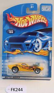 Hot wheels HW Rodger Dodger Yellow Collector #186 FNQHotwheels FK244
