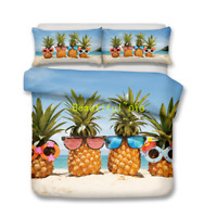 Holiday Pineapple Single/Double/Queen/King Size Bed Quilt/Doona/Duvet Cover Set