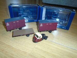 Pair of Bachmann Intertrans 76 Diecast Vehicle & Trailers for Hornby OO Gauge