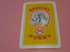 1 losse speelkaart / 1 single playing card / 1 carte BIEREN PONEY , LUBBEEK