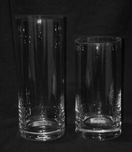 Crystal Glass Cylinder Vase -  Handmade in Poland