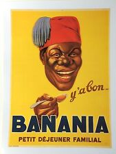 French Poster Print Art Deco 1930s 24x18 Banana Paris Happy Man Premium Paper