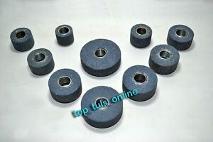 """SIOUX VALVE SEAT GRINDING STONE SET 10 PCS 25 MM TO 50 MM NEW SET 11/16"""" TRD"""