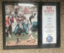 Hall of Fame 15.5 x12.5 Plaque Dan Marino Nfl Miami Dolphins *Free Shipping*