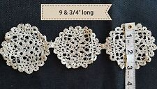 """A4 Antique 9.75"""" Bobbin Lace Salvage Remnant Edging Trim Trims Sewing Projects"""