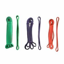 Long & Short Heavy Duty Resistance Bands Loop Exercise Yoga Workout Gym Fitness