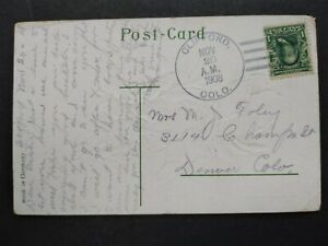 Colorado: Clifford 1908 Greeting Postcard to Denver, DPO Lincoln Co