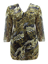 Ex Signature Animal Print Lined Chiffon Top Tunic Blouse