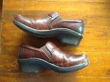 Ariat Sutter Brown Leather Clogs Shoes Women's size US 7.5 EUR 38