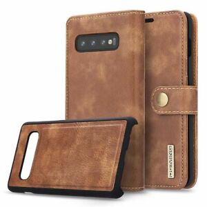 For Samsung Galaxy S10 Plus S10e Magnetic Flip Card Wallet Leather Case Cover