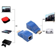 2pcs 1080P HDMI Extender to RJ45 Over Cat 5e/6 Network LAN Ethernet amplifier~2Y