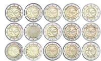 15 x 2 Euro 2009 WWU EMU Gemeinschaftsausgaben Satz ohne Deutschland