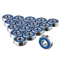 16 x 608RS Skateboard Bearings-Frictionless ABEC 9 Roller Bearing for Skate b P2