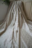 TAN BEIGE MINK BROWN EMBROIDERED CURTAINS,46WX54D,SHIMMER,PLEAT,LINED,+TIES,1OF2