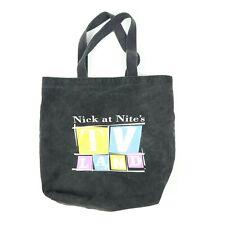 Nick at Night TV Land Canvas Tote Bag Faded Black