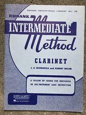 Hal Leonard Rubank 52 Intermediate Method Clarinet Instruction Skornicka Miller