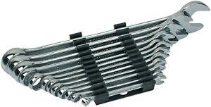 Jeu de 12 clés plate outil mixtes farouche anneau de 6 à 22 mm polygonales