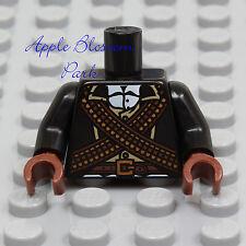 NEW Lego Bandit BLACK SUIT MINIFIG TORSO - Cow Boy Ammo Jacket Gun Belt Bullets