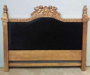 Angel Rococo Gilt 5' King Size Mahogany Gold Freestanding Headboard Louis