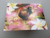 Glossy Greeting Card with envolope Flower Chicken Hawaii Kauai Free Shipping