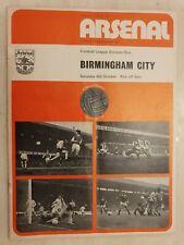 1973/74  Arsenal v Birmingham City 6th October, Cup Final Voucher intact