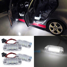 4Pcs 6000K Bright White Door Step Courtesy Light for VW Passat Golf 2011-2014