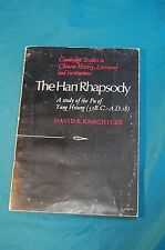 The Han Rhapsody Study of the Fu of Yang Hsiung David Knechtges 1976 paperback