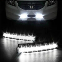 Car Light 8 LED DRL Fog Driving Daylight Daytime Running White Lamp UK