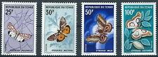 Tschad - Schmetterlinge Satz postfrisch 1968 Mi. 207-210