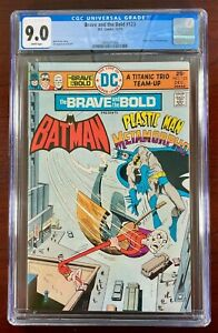 BRAVE AND THE BOLD #123 CGC 9.0 NM (DC 1975) BATMAN PLASTIC MAN & METAMORPHO 🔑