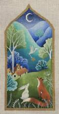 """Needlepoint Handpainted Brenda Stofft Looking for Home 12.5"""""""