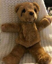 "17"" VINTAGE SONIC SNORING BROWN TEDDY BEAR STUFFED ANIMAL PLUSH TOY MAKES NOISE"