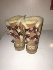 UGG Australia Kids' Bailey Bow Boots in Brown Size 4