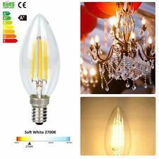 Dimmable 6W E14 C35 Candle LED COB Edison Filament Light Bulbs Retro Lamps 220V